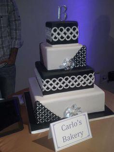 Wedding cake from Carlo's Bakery at the Wedding Salon NY