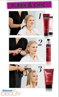 To get the ultimate sleek and chic look use the new 7 Day Keratin Smooth products from TRESemme. Hair is easy to style with less frizz and more manageability. You'll have salon-smooth hair that lasts for 7 days or up to 3 washes. see.walmart.com/tresemme