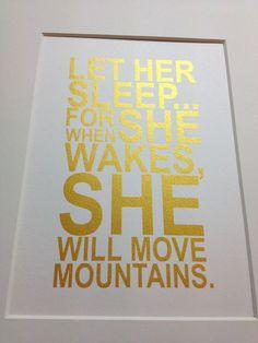 Baby+girl+nursery+gold+quote+print+Let+her+sleep+by+metallicprints,+$12.00