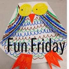 I Love My Classroom: Art owl for Friday Fun