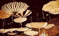 Love this umbrella idea, perfect for a quirky wedding