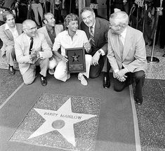 Barry Manilow Hollywood Walk Of Fame star.