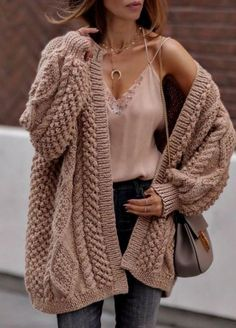Khaki Chunky Wide Long Sleeve Knit Cardigan - Casual Loose Knit Twist Cardigan Coat – linenlooks cardigans fall,Cardigans,cardigans for women,cardigans outfit Source by barbaraeskowitz - Winter Fashion Casual, Casual Winter Outfits, Winter Style, Fall Winter, Outfit Winter, Fashion Fall, Casual Wear, Autumn, Cute Fall Outfits