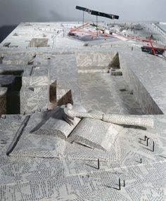 Daniel Libeskind / Berlin City Edge, Bauausstellung Site Model, 1987