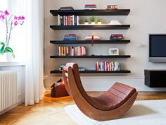 floating shelves are so cool!