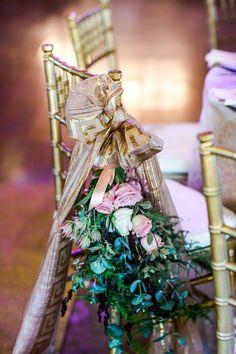 Chiavari chair corsages - Nadine and Lorenzo's Enchanted Parisian Wedding Parisian Wedding, Chiavari Chairs, Corsages, Event Styling, Enchanted, Affair, Delicate, Bride, Outdoor Decor