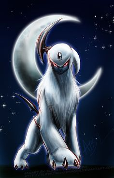 Absol from Pokemon + Absol - Pokemon Umbreon, Pikachu Art, Cool Pokemon Wallpapers, Cute Pokemon Wallpaper, Animes Wallpapers, Pokemon Fan Art, Pokemon Dragon, Pokemon Images, Pokemon Pictures