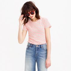 Short-sleeve painter tee in stripe