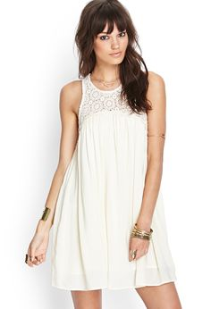 Crochet Babydoll Dress | FOREVER21 - $28
