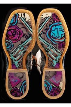 Whip It - Guns & Roses Sole Tin Haul Whip It Gals Boot Boots Urban Western Wear