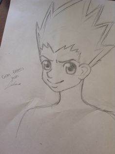 So I sketched gon from hxh I guess it turned out well :3