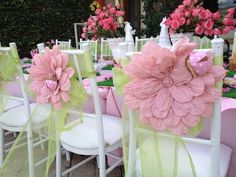 Decorated chair at a Garden Party #garden #party