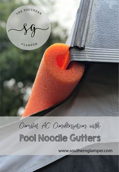 Combat AC Condensation with Pool Noodle Gutters on the sides of your pop up camper to keep water from running all over your canvas! Camper Hacks, Diy Camper, Camper Life, Camper Ideas, Rv Hacks, Tent Campers, Camper Trailers, Camper Awnings, Pop Up Tent Trailer