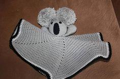 Koala Lovey Blanket - Mini Blanket Lovey - Koala Bear Toy Lovey - Crochet Lovey Blanket - Security B Crochet Lovey, Crochet Eyes, Hand Crochet, Free Crochet, Handmade Baby Gifts, New Baby Gifts, Lovey Blanket, Bear Toy, Security Blanket