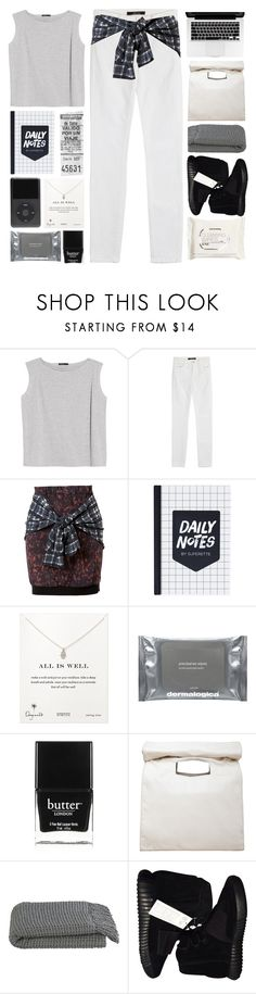 """""""airplanes in the night sky like shooting stars"""" by daisiesxflowers ❤ liked on Polyvore featuring MANGO, J Brand, 3.1 Phillip Lim, Dogeared, Dermalogica, Butter London, Limi Feu, Crate and Barrel, adidas Originals and H&M"""