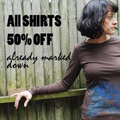 That's right all shirts marked down 50% !!!! Happy Labor Day!