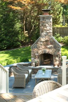 Creative Outdoor Fireplace Designs and Ideas Patio Steinkamin www. Rustic Outdoor Fireplaces, Outdoor Fireplace Patio, Outside Fireplace, Outdoor Fireplace Designs, Fireplace Ideas, Rustic Outdoor Decor, Brick Fireplaces, Slate Fireplace, Gardens