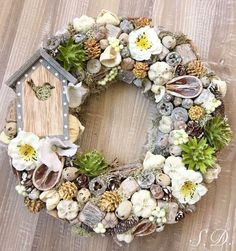1 million+ Stunning Free Images to Use Anywhere Diy Spring Wreath, Diy Wreath, Door Wreaths, Easter Wreaths, Christmas Wreaths, Christmas Decorations, Pine Cone Crafts, Wreath Watercolor, Spring Activities