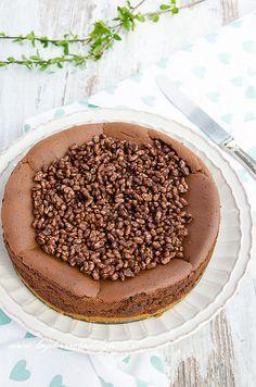 cheesecake al cioccolato con riso soffiato - ricetta con foto passo a passo