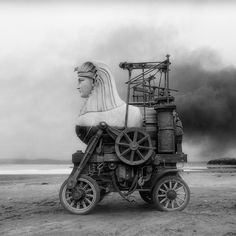 Surreal siege engines and a ruined mansion: new work from Jim Kazanjain / Boing Boing