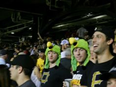 Paul Martin, James Neal and Robert Bortuzzo having fun at the Pirates playoff game.