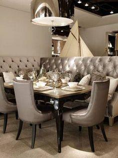 elegant banquette kitchen - Google Search