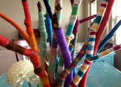 Yarn twigs