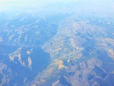 Aerial photos of mountains out west