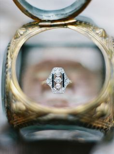 Vintage-inspired engagement ring: http://www.stylemepretty.com/maryland-weddings/churchville/2016/01/28/romantic-violet-smokey-charcoal-wedding-inspiration/ | Photography: Amelia Johnson - http://www.amelia-johnson.com/