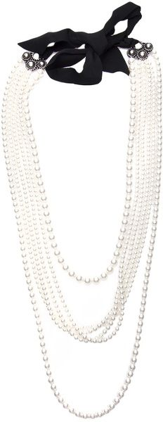 Lanvin Multiple Strand Pearl Necklace