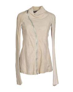 Rick owens Для мужчин - Верхняя одежда - Куртка Rick owens на YOOX 850-490 90 кожа и 10 шерсть