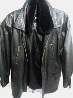 Wilsons Leather Black Leather Jacket -Large #WilsonsLeather #BasicJacket