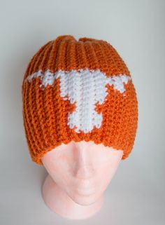 Texas Longhorns Crochet Beanie by Doodlebugphotoprops on Etsy, $20.00