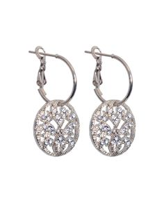 The Cadiz Earrings Silver by JewelMint.com, $59.98