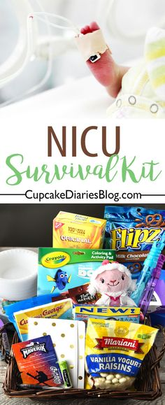 Having a baby in the hospital NICU can be a very trying experience for the baby's family. A NICU Survival Kit is the perfect gift for a family waiting for their baby to leave the NICU. Advice For New Moms, New Parent Advice, Cupcake Diaries, Baby Calm, Pregnancy Labor, Premature Baby, Breastfeeding And Pumping, Vanilla Yogurt, Baby Health