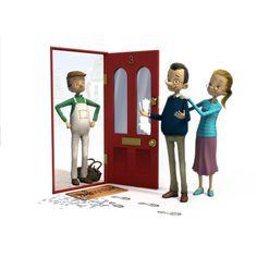 Broken door couple © Lloyds TSB 2013