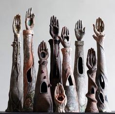 Ceramic Hand Sculptures