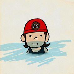 #水泳教室 #初めてのメダルは16 #イラスト