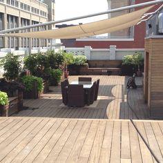 Rooftop deck in Pittsburgh. Relaxing