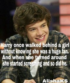 well im sorry i scared you then naw just kidding i wish that was me though Harry Styles Facts, Harry Styles Quotes, Harry Styles Pictures, Harry Styles Imagines, One Direction Quotes, One Direction Harry Styles, One Direction Imagines, 1d Imagines, Mr Style
