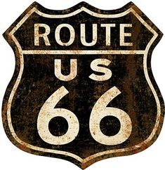 23272. -  ROADSIDE - ROUTE 66 - US - - Sign - Formato do emblema -  29x30-