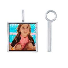 Altered digital image of my daughter on the beach.  Love the vibrant colors and textured pattern.  A unique photo pendant, make one for yourself, send us a photo, we'll alter the image in the style shown and send a proof for review, a one of a kind piece.