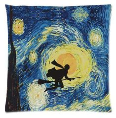 Harry Potter Van Gogh Starry Night Art Painting Art Print - I love it! Art Harry Potter, Harry Potter Universal, Harry Potter Painting, James Potter, Vincent Van Gogh, Starry Night Art, Stary Night Painting, Starry Nights, Arte Van Gogh