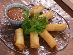 Lobster Spring Rolls with a Citrus-Chili Dipping Sauce recipe from Emeril Lagasse via Food Network