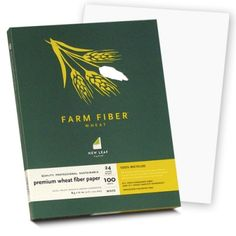 $17.55 New Leaf Paper Premium Wheat Fiber Paper (White) sold by Southworth. Combine 15% Pre-Consumer Agricultural Fiber with 85% Post-Consumer Waste for New Leaf's wholesome Premium Wheat Fiber Paper. This naturally beautiful paper has a smooth white finish that will satisfy all your communications needs. Processed chlorine-free, and manufactured with electricity that is offset with renewable energy certificates. Laser, inkjet and copier guaranteed. 24 lb., 100 ct.