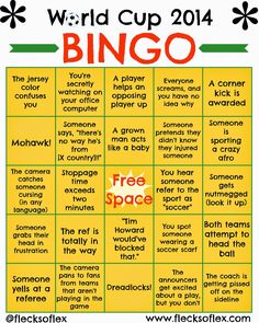 Get your World Cup Bingo Board! #worldcup #copamundial