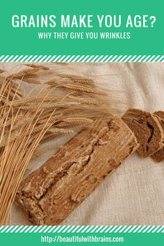 Did you know that grains turn to sugar in your body? Sugar causes glycation, a process that triggers inflammation, destroys your collagen and leads to dark spots. Basically, it makes you age faster. Click through to find out why grains (yes, even quinoa!) aren't that good for you and what you can do to avoid the damage.