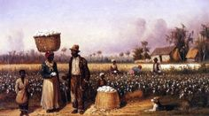 william aiken walker negro workers in cotton field with dog paintings