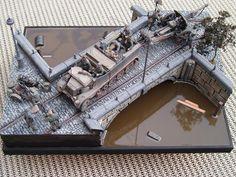 Bridge Crossing 1/35 Scale Model Diorama