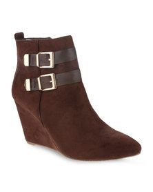 Gino Paoli Wedge Ankle Boot Brown